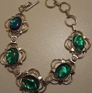 Australian triple opal bracelet 925 Silver